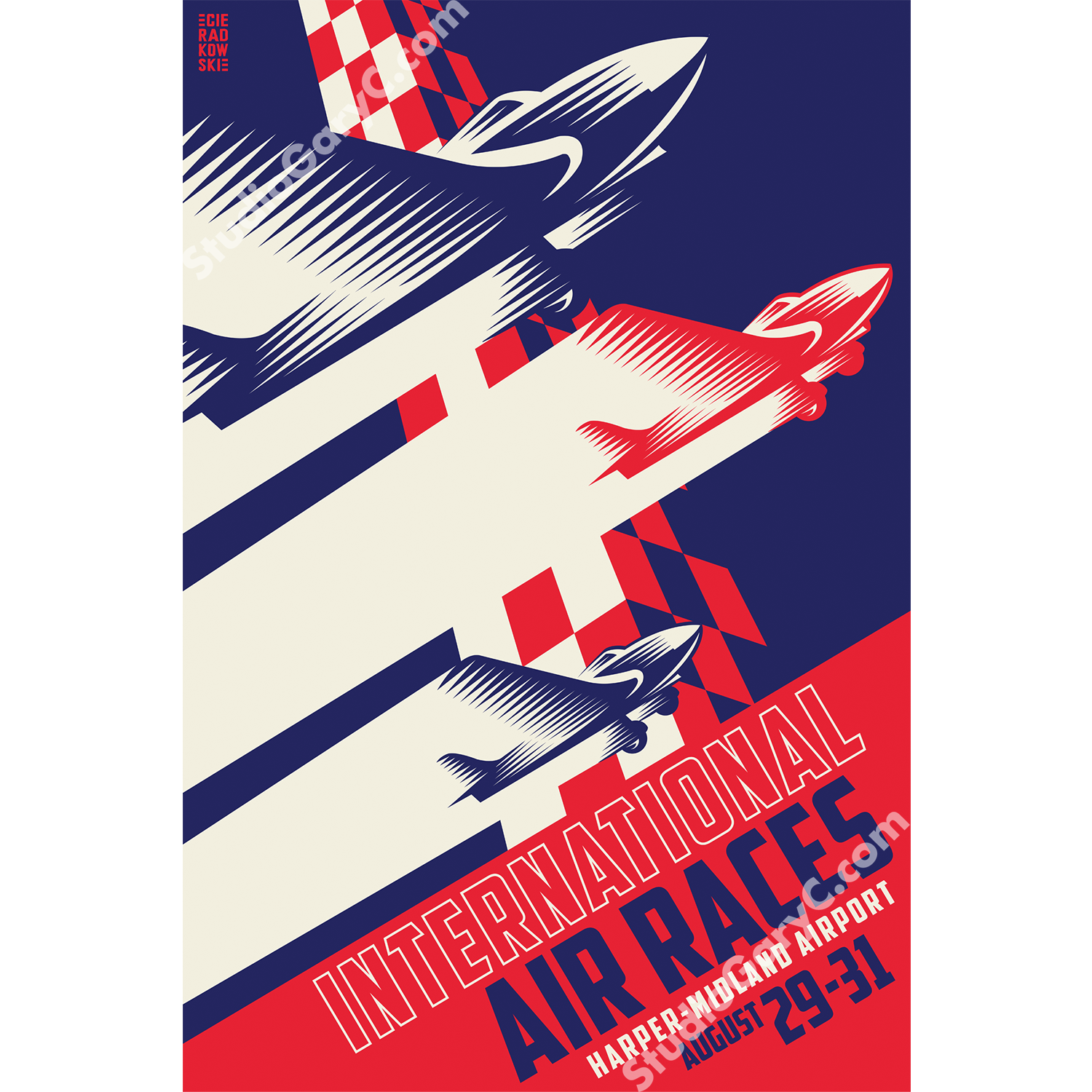 Art Deco 1940\'s International Air Races Poster