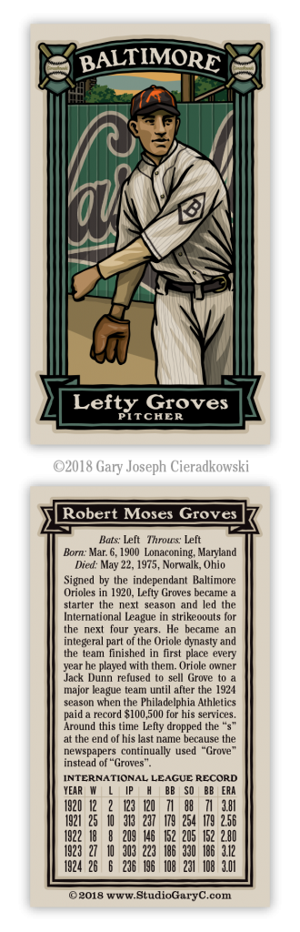 Lefty Grove The Best Pitcher A Fence Can Buy Studio Gary C
